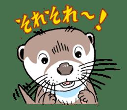 Amusing otter family sticker #6476432