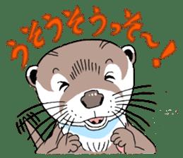 Amusing otter family sticker #6476434