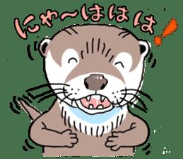 Amusing otter family sticker #6476435
