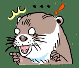 Amusing otter family sticker #6476437