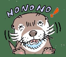 Amusing otter family sticker #6476438