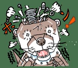 Amusing otter family sticker #6476443