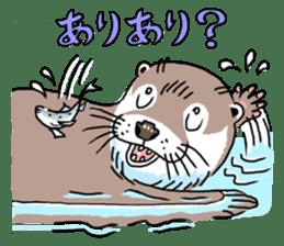 Amusing otter family sticker #6476444