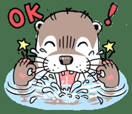 Amusing otter family sticker #6476445
