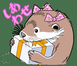 Amusing otter family sticker #6476448