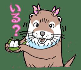 Amusing otter family sticker #6476451