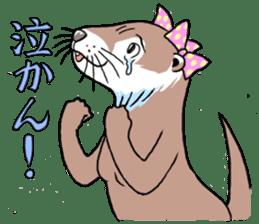 Amusing otter family sticker #6476453