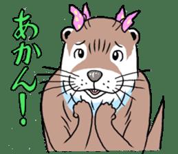 Amusing otter family sticker #6476454