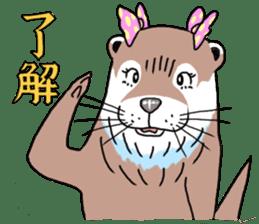 Amusing otter family sticker #6476456