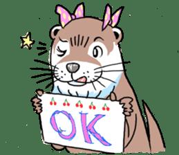 Amusing otter family sticker #6476457