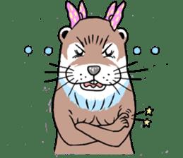 Amusing otter family sticker #6476460