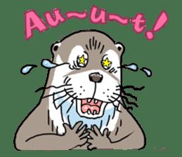Amusing otter family sticker #6476463