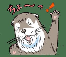 Amusing otter family sticker #6476464