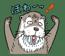 Amusing otter family sticker #6476465