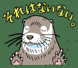 Amusing otter family sticker #6476466