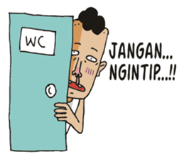 jambul the single guy sticker #6490523