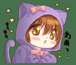 Boy of a cat ear sticker #6495594