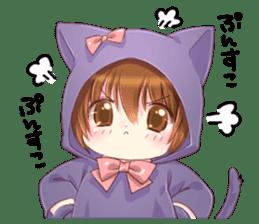 Boy of a cat ear sticker #6495598
