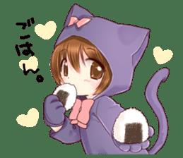 Boy of a cat ear sticker #6495609