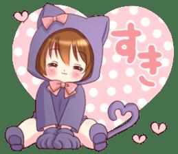 Boy of a cat ear sticker #6495618