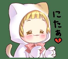 Boy of a cat ear sticker #6495623