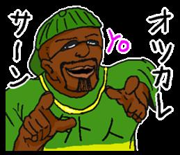 Annoying black man. sticker #6496210