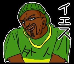 Annoying black man. sticker #6496218