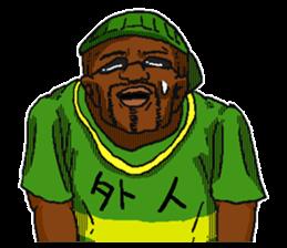 Annoying black man. sticker #6496221