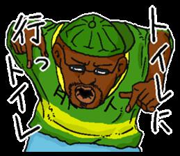 Annoying black man. sticker #6496229