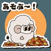 สติ๊กเกอร์ไลน์ Sheep 'MuMu' animation 1