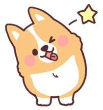 fluffy fat dog2 sticker #6503834