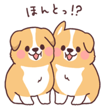 fluffy fat dog2 sticker #6503839