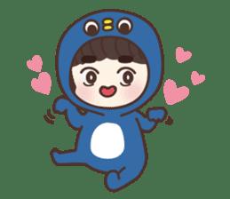 heart lips boy 'dudu' sticker #6505489