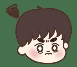 heart lips boy 'dudu' sticker #6505490