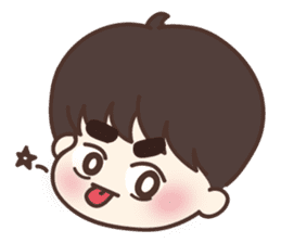 heart lips boy 'dudu' sticker #6505497