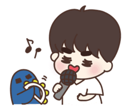 heart lips boy 'dudu' sticker #6505507