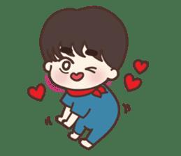 heart lips boy 'dudu' sticker #6505509