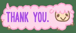 The sticker of cute oblong(English ver.) sticker #6508776