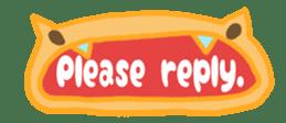 The sticker of cute oblong(English ver.) sticker #6508778