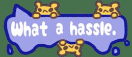 The sticker of cute oblong(English ver.) sticker #6508780