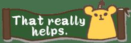 The sticker of cute oblong(English ver.) sticker #6508783