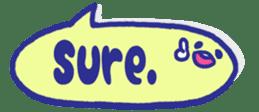 The sticker of cute oblong(English ver.) sticker #6508784