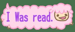 The sticker of cute oblong(English ver.) sticker #6508796