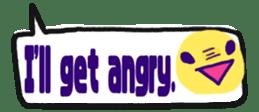 The sticker of cute oblong(English ver.) sticker #6508799