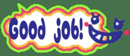 The sticker of cute oblong(English ver.) sticker #6508800