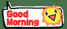The sticker of cute oblong(English ver.) sticker #6508802