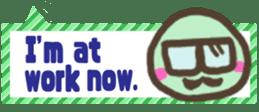 The sticker of cute oblong(English ver.) sticker #6508805