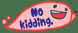 The sticker of cute oblong(English ver.) sticker #6508809