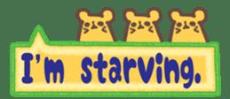 The sticker of cute oblong(English ver.) sticker #6508810