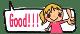 The sticker of cute oblong(English ver.) sticker #6508813